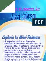 Viata Si Opera Lui Mihai Eminescu