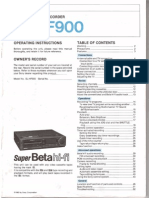 Sony SL HF-900 Owners Manual
