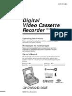 Sony GVD-1000 User Manual