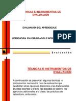 TÉCNICAS DE EVALUACIÓN