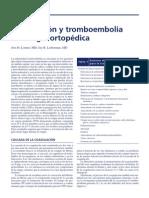 Cap.6. Coagulación y Tromboembolia en Cirugía Ortopédica