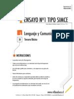 Ensayo1 Simce Lenguaje 3basico 2014