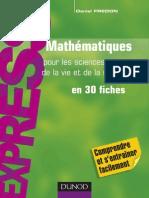 Mathematiques Pour Les Sciences de La Vie