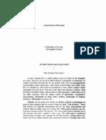 Lakoff & Johnson 92 Experientialist Philosophy