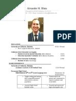 blum-alexander-resume-2014-berkeley city college