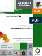Osteoartrosis de Rodilla Grado I-II