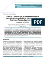 Effect of Cypermethrin on Some Hematological