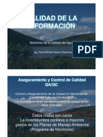 T_05_Monitoreo Calidad Del Agua II - Calidad