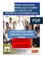 3.- Trabajo Articulado Entre Gobierno Regional y Gobierno Local