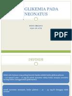 Hipoglikemia Pada Neonatus