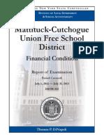 Mattituck Cutchogue UFSD Audit Jan. 2014