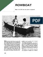 Plywood Rowboat
