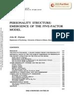 Digman on Five Factor Model