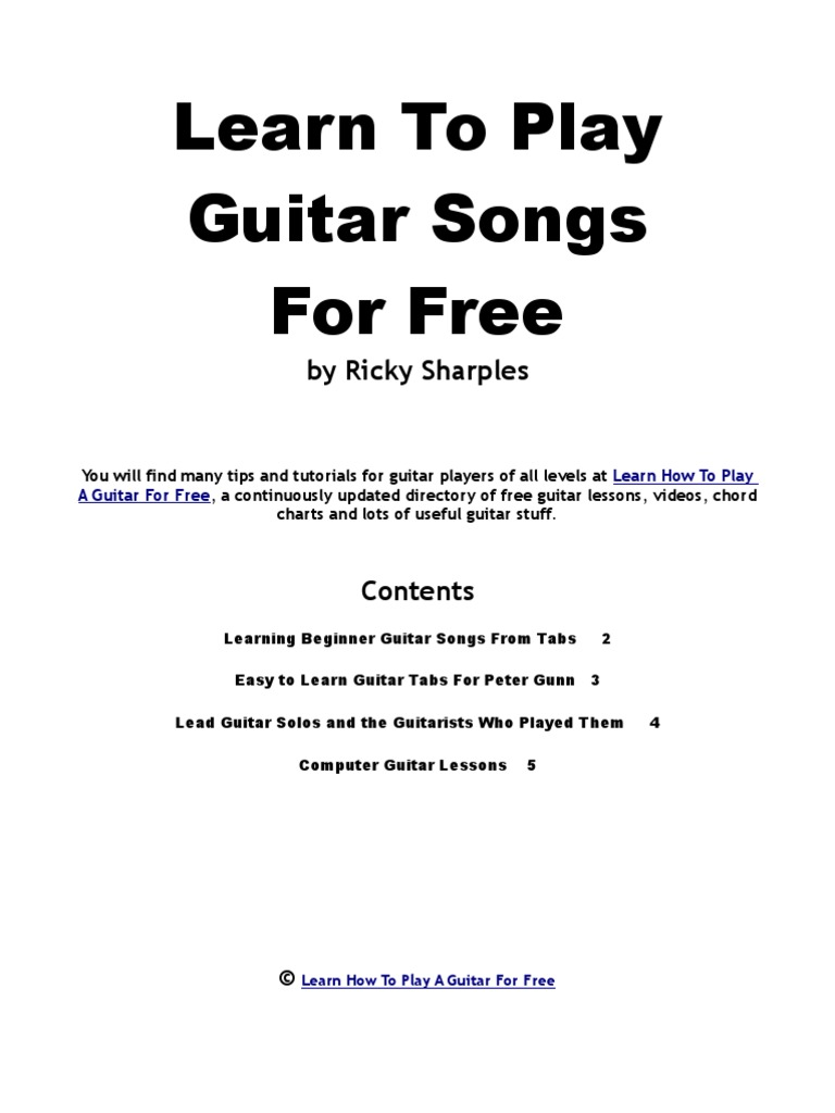 Guitar Songs String Instruments Guitars