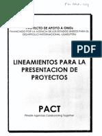 Lineamientos - Presentacion de Proyectos