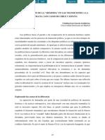 """La Recuperación de La """"Memoria"""" en Las Transiciones a La Democracia. Los Casos de Chile y España"""