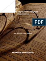 Hebraic Approach to Scripture Interpretation
