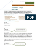 WEB Sample Cover Letters