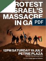 Gaza Rally Flyer A6 140714