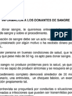 Datos Para Donación de Sangre