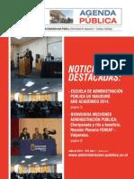 """2ª Edición Periódico """"Agenda Púbica"""" Escuela de Administración Pública UV"""