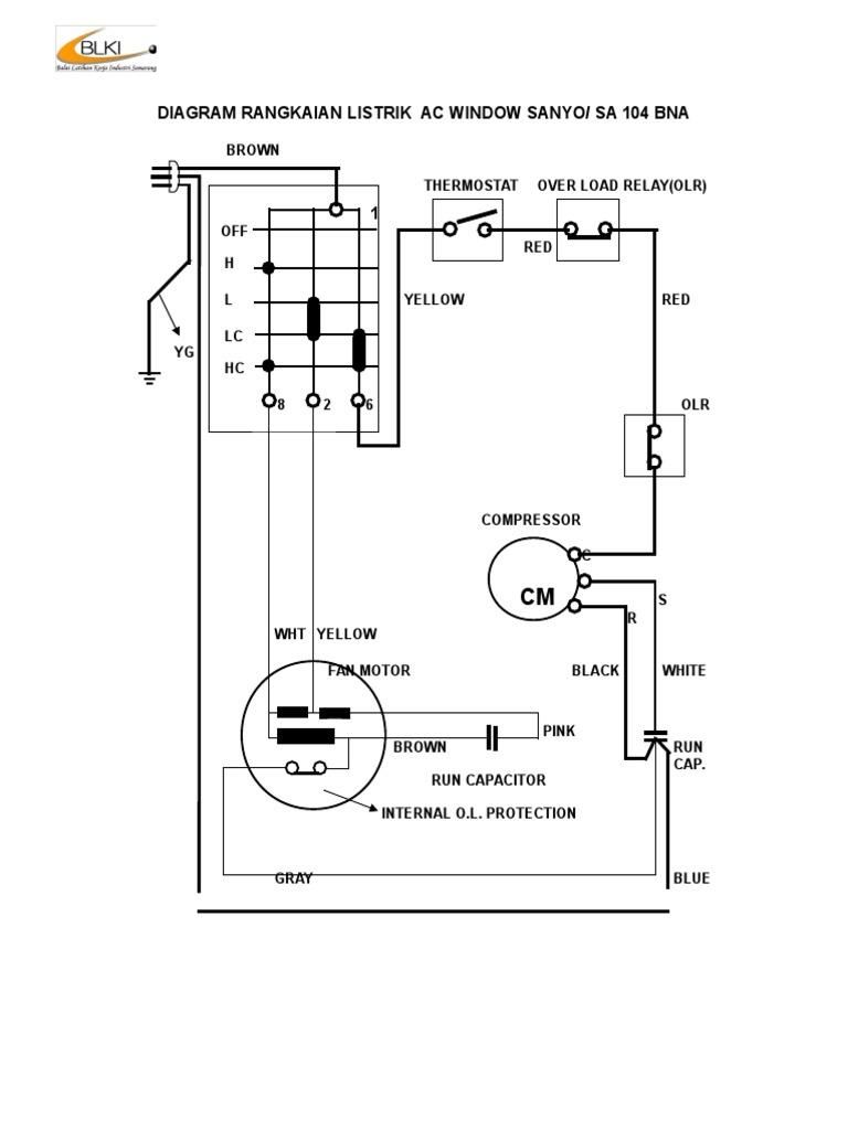 Diagram rangkaian listrik ac window sanyo ccuart Image collections