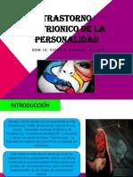 Trastorno Histrionico de La Personalidad (Exposicion)