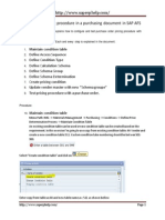 How to Setup Pricing Procedure in a Purchasing Document in SAP AFS