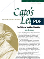 CATO - Five Myths of Socialized Medicine - John Goodman