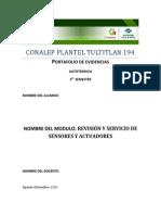 Revision y Servicio a Sensores y Actuadores