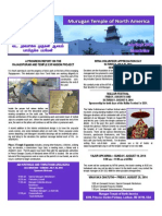 Murugan Temple Newsletter - July August September 2014