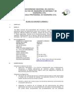 Sillabus Concreto I-unu 2014