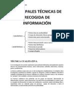 Principales Técnicas de Recogida de Información