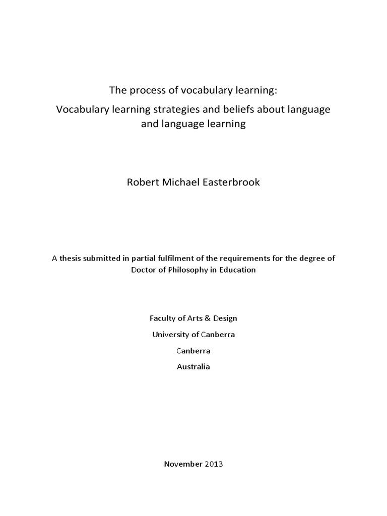 vocabulary learning strategies pdf