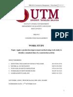 Construction Management - Work Study