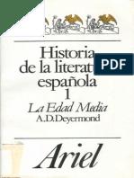 Historia de La Literatura Espanola 1 La Edad Media Deyermond