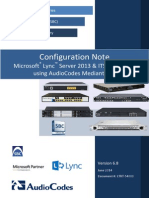 LTRT-54009 Lync 2013 - Mediant SBC for ITSP SIP Trunking Configuration Note Ver. 6.8