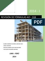 Calcular Últimas Resistencias y Revisión de Las Fórmulas ACI