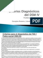 Criterios Diagnósticos Del DSM IV. Problemas de Estudio
