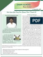 Dawn School - News Letter