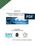 SIG PC CHO AutoCAD Poligonales Con Distancias, Azimut y Rumbos