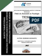 Investigacion Psicoanalisis y Teorías de Genero - Indices