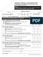 Health Immunization MMR Form