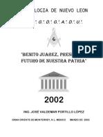 Benito Juarez Presente y Futuro de Nuestra Patria Pwv