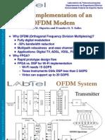 FPGA Implementation of an OFDM Modem