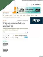 EC Stops Implementation of Education Loan Interest-waiver Plan - Livemint