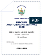 INFORME AUDITORIAS SSRR