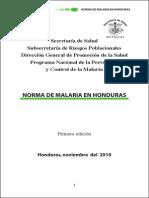 Norma Malaria Honduras 2011