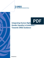 """UNEG Handbook """"Integrating Human Rights and Gender Equality in Evaluation"""