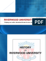 History of Riverwood University